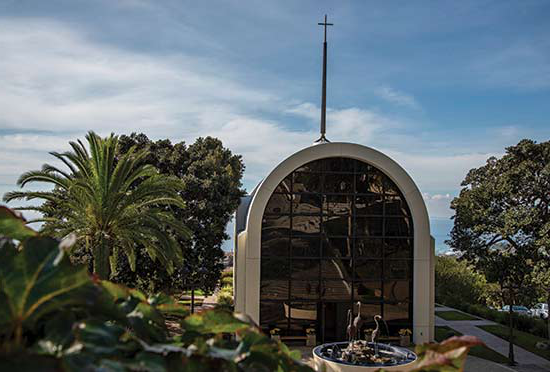 The Chapel at Pepperdine University seen from the outside