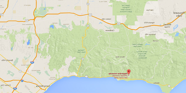 Map of Malibu Area