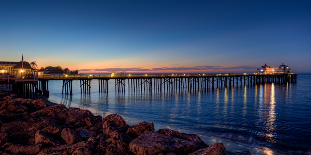 Malibu Pier at Night