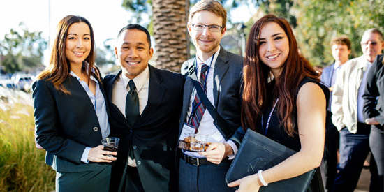 student organization members at pepperdine law